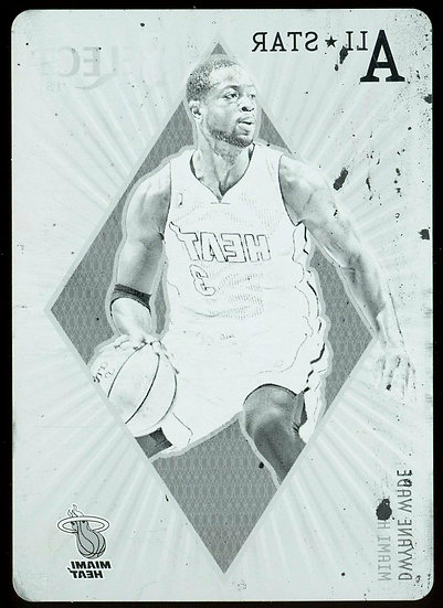 2012-13 Panini Select 1st YEAR ALL-STAR SELECTIONS BLACK PLATE 1/1 Dwyane Wade