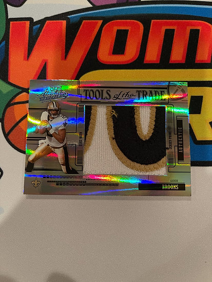 2005 Playoff Absolute Tools of the Trade Aaron Brooks 3 Color Patch # 1/1 Saints