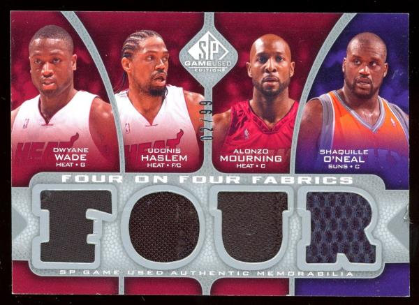 2009-10 SP Game Used 8 JERSEY 02/99 Dwyane Wade Shaquille O'neal Haslem Dirk