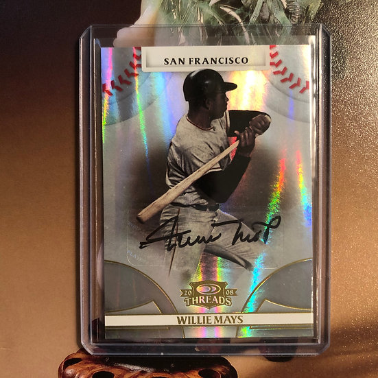 2008 Donruss Threads Willie Mays Autograph SF Giants Certified Auto #d 50/50