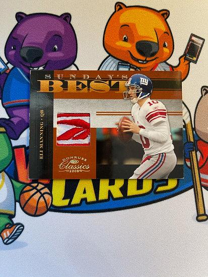 2008 Donruss Classics Eli Manning Reebok Logo Patch 7/25 Sunday's Best NY Giants
