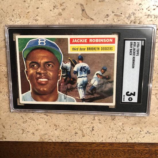 1956 Topps Jackie Robinson #30 SGC 3 Iconic Card HOF Brooklyn Dodgers PSA BGS