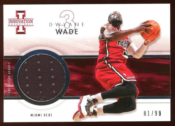 2012-13 Panini Innovation #29 ~ AUTHENTIC JERSEY 81/99 ~ Dwyane Wade