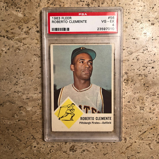 1963 Fleer Roberto Clemente #56 PSA 4 VG-EX Iconic Card HOF Pittsburgh Pirates
