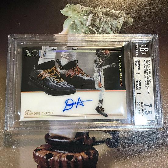 Deandre Ayton Autograph Sneaker Spotlight Panini Noir RC #d/99 BGS 7.5 AUTO 9