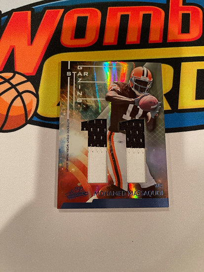 2009 playoff absolute Mohamed massaquoi jersey Patch 11/25 Gazing Star Browns