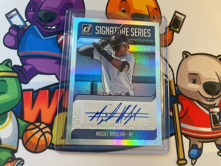 2018 Panini Donruss Miguel Andujar Signature Series Auto RC SS-MA NY Yankees