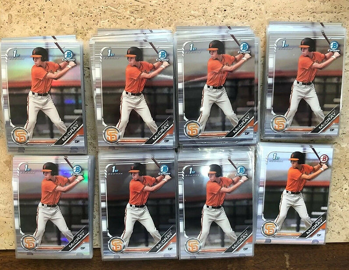 HUGE LOT GRANT MCCRAY 144x 2019 BOWMAN DRAFT CHROME RC 45x REF Non AUTO GIANTS
