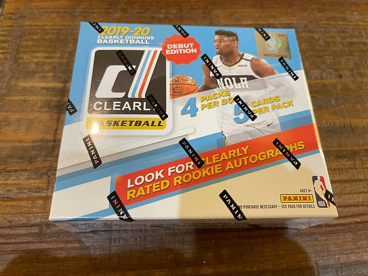 2019-20 Panini Clearly Donruss Basketball Factory Sealed Hobby Box 🔥 ZION RC YR