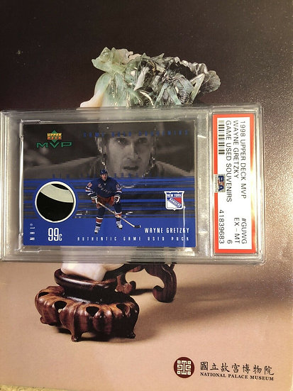 WAYNE GRETZKY 1998-99 UPPER DECK MVP GAME USED PUCK SP PSA 6 NY Rangers