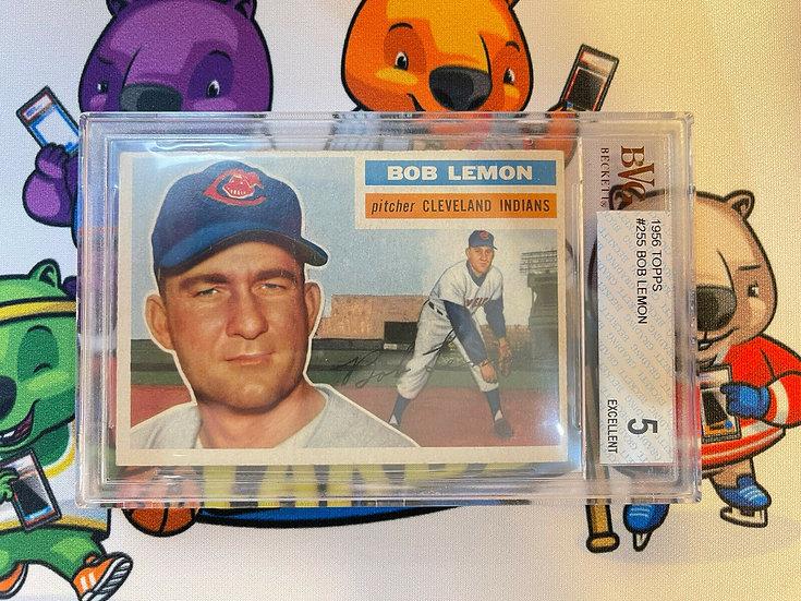 1956 Topps #255 Bob Lemon Indians HOF BVG 5 EX !!!