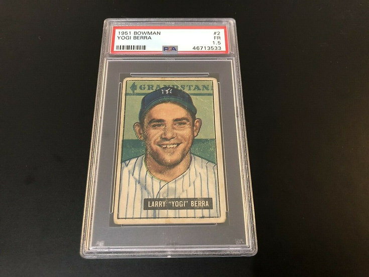 1951 Bowman #2 Yogi Berra PSA 1.5 - New York Yankees - Iconic Card - HOF