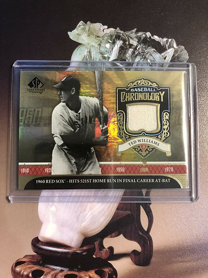 Ted Williams 2006 SP legendary cuts chronology Red Sox Game Used Jersey Boston