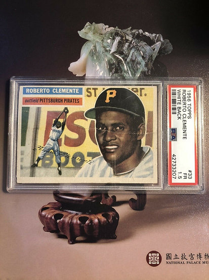 1956 Topps Roberto Clemente PSA 1.5 FR White Back #33 HOF Pirates - Eye Appeal!