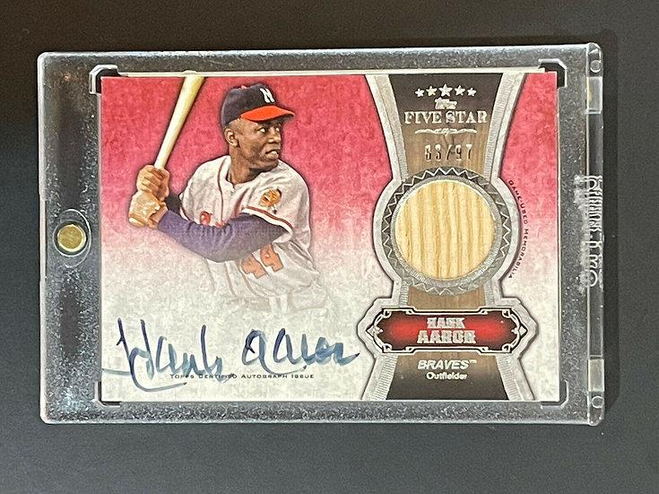 2012 Topps Hank Aaron Autograph #d 83/97 Five Star Bat Relic Auto HOF Braves