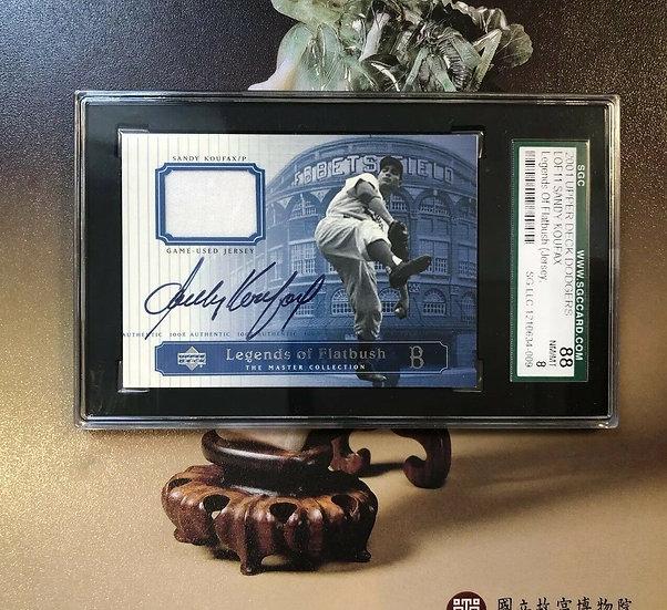 2001 UD Dodgers Legends of Flatbush SANDY KOUFAX Autograph Jersey SGC 88 AUTO