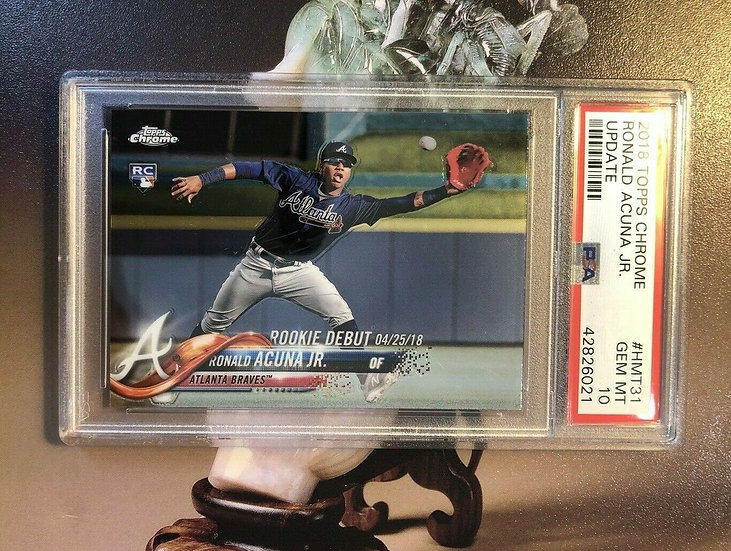 2018 Topps Chrome Ronald Acuna Jr #HMT31 Rookie RC PSA 10 Gem Mint Update BRAVES