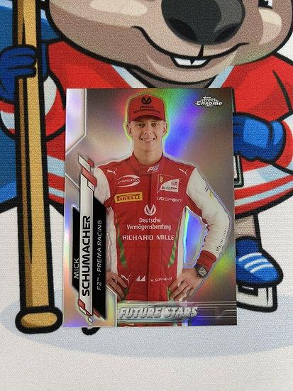 2020 Topps Chrome Formula 1 F1 Mick Schumacher Future Stars Refractor #53 1st RC