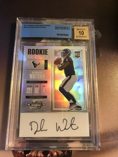 2017 contenders optic deshaun watson rookie ticket SP RC Autograph BGS Auto 10