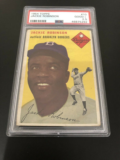1954 TOPPS JACKIE ROBINSON #10 - PSA 2.5 Brookyln Dodgers HOF Iconic- Eye Appeal