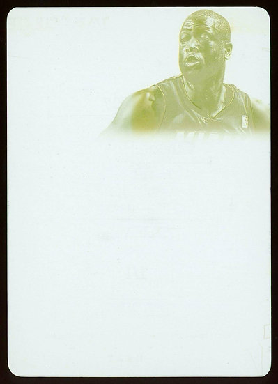 2013-14 Panini FLAWLESS #17 PATCH AUTOS YELLOW PRINTING PLATE 1/1 ~ Dwyane Wade