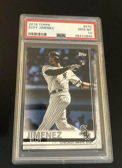 2019 Topps Series 2 Eloy Jimenez Rookie PSA 10 Gem Mint #670 White Sox HOT 🔥🔥