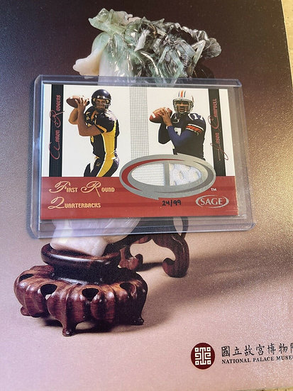 AARON RODGERS 2005 Sage Dual Jersey Card #d/99 ROOKIE CARD RC Jason Campbell