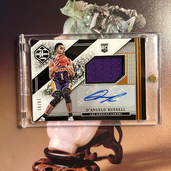 2015-16 Limited D'angelo Russell RC Auto Jersey #/99 Lakers Rookie Card RPA