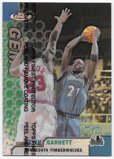 KEVIN GARNETT 1999-00 Topps Finest Gems REFRACTOR #103 TIMBERWOLVES CELTICS