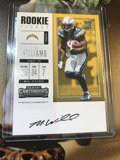 2017 Contenders Mike Williams Ticket Rookie Auto SP RC Autograph Chargers CARD