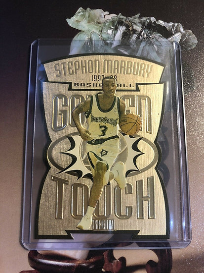 1997-98 SKYBOX GOLDEN TOUCH GT5 STEPHON MARBURY DIE-CUT SP Timberwolves L@@K