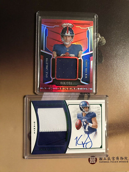 LOT: 2017 National Treasures Kyle Lauletta Auto RC RPA #d/17 & Certified Jersey