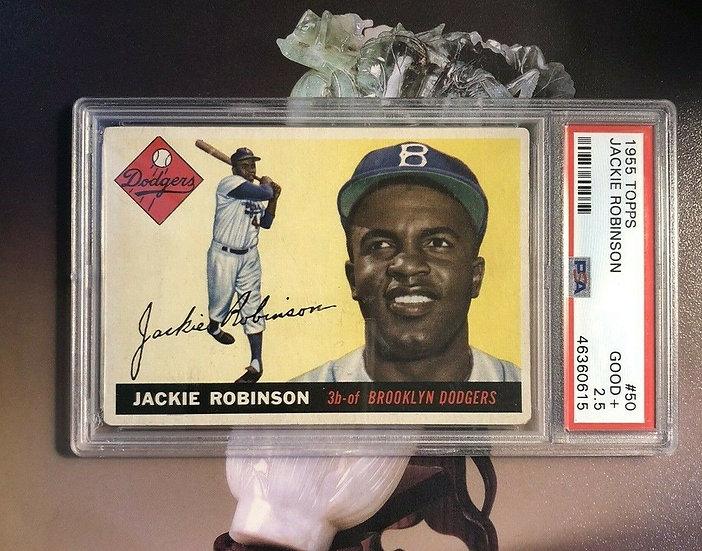 1955 Topps Jackie Robinson PSA 2.5 Good - HOF - Iconic Card - Major Eye Appeal!