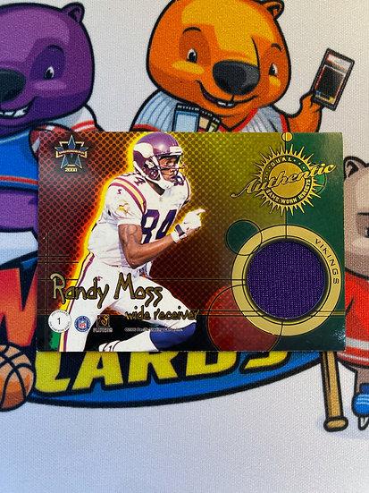 2000 Vanguard Randy Moss Cris Carter Dual Game Worn Jersey /200 Vikings
