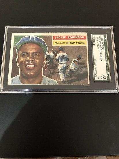 1956 TOPPS #30 Jackie Robinson (White Back) Dodgers SGC 60 5 EX HOF Eye Appeal!