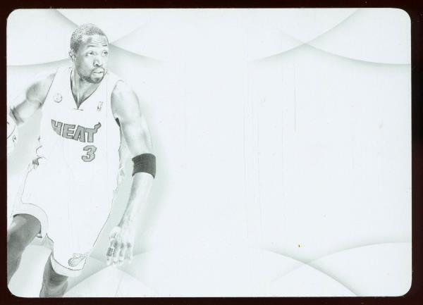 2012-13 Panini Immaculate PP-DY PRIME PATCH BLACK PRINT PLATE 1/1 ~ Dwyane Wade