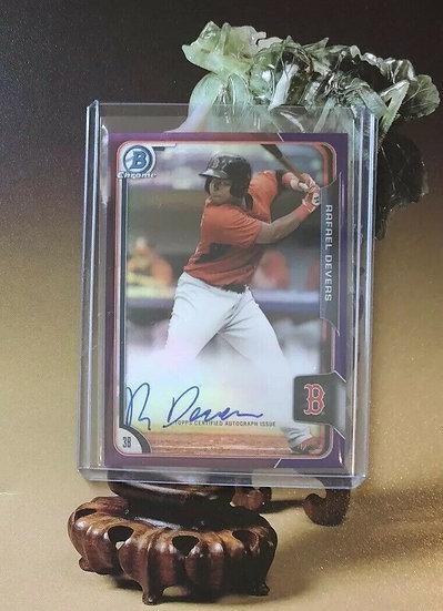 2015 Bowman Chrome Rafael Devers Autograph Purple REF RC #d/250 Boston Red Sox