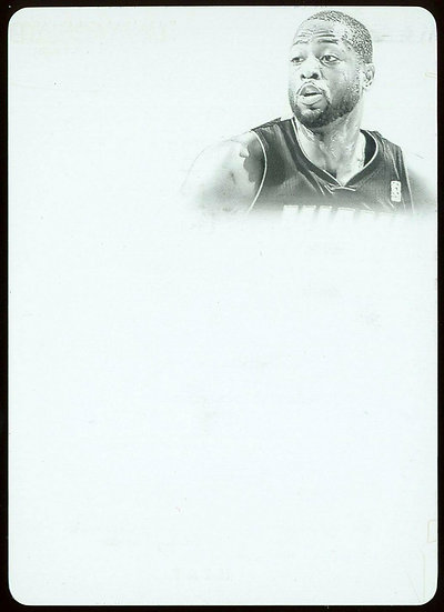 2013-14 Panini FLAWLESS #17 ~ PATCH AUTOS BLACK PRINTING PLATE 1/1 ~ Dwyane Wade