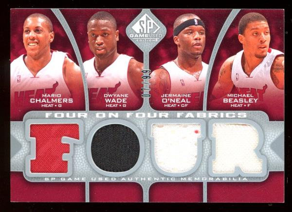 2009-10 SP Game Used 8 JERSEY 07/99 Dwyane Wade Haslem O'neal Howard Nelson ORL