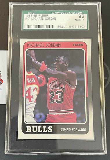 1988-89 Fleer Michael Jordan #17 SGC 92 NM/MT+ Chicago Bulls 🔥HOF 🔥GOAT🔥