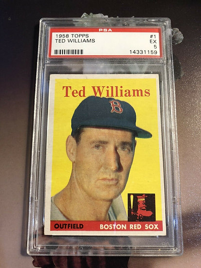 1958 Topps Ted Williams #1 PSA 5 EX Boston Red Sox HOF 🔥Great Eye Appeal🔥