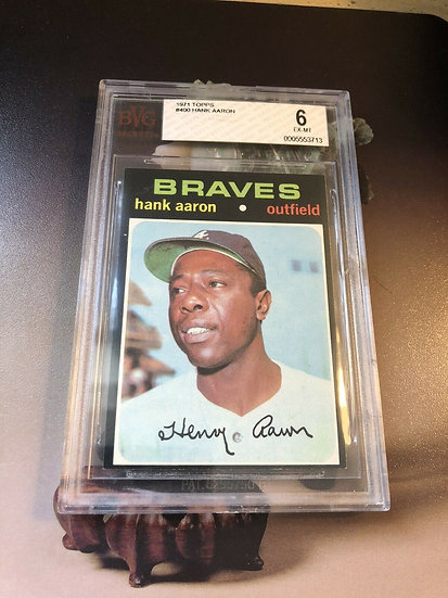 1971 Topps Hank Aaron #400 Card BVG 6 HOF 🔥 Atlanta Braves Great Eye Appeal 🔥