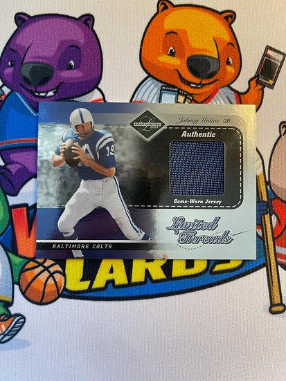 2003 Leaf Limited Johnny Unitas Game Worn Jersey #/100 Limited Threads Colts HOF