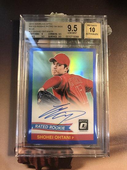 Shohei Ohtani 2018 Donruss Optic Retro '84 Autograph RC #d/25 BGS 9.5 Auto 10