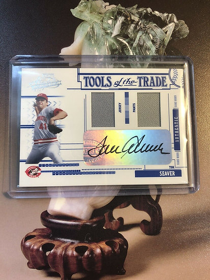 2005 Absolute Baseball Tom Seaver Autograph Jersey Pants Tools Of Trade #d/100