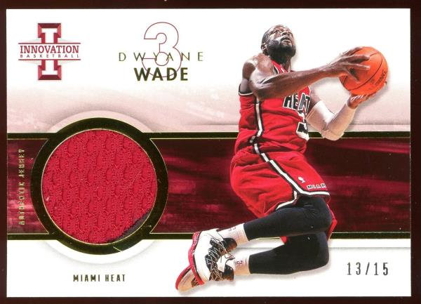 2012-13 Panini Innovation #29 ~ AUTHENTIC PRIME PATCH GOLD 13/15 ~ Dwyane Wade