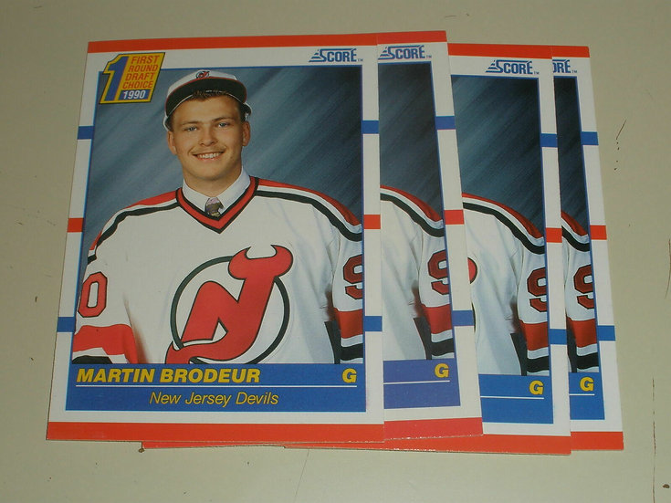 Lot of 4 - 1990-91 Score Martin Brodeur #439 RC Rookie Card NJ Devils HOF