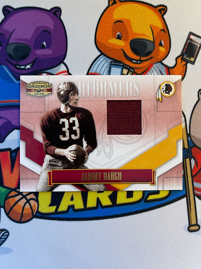 2008 Donruss Gridiron Sammy Baugh Game Worn Jersey #d/250 Washington