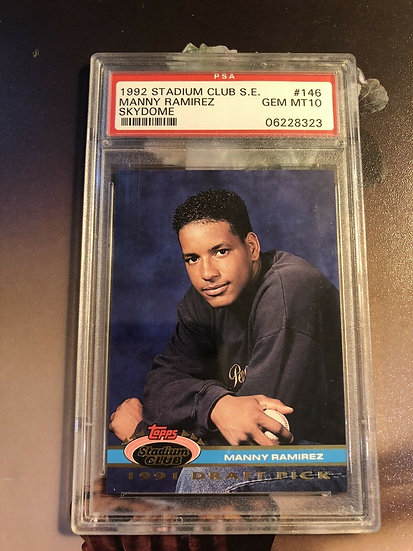 MANNY RAMIREZ #146 RC 1992 Stadium Club SE PSA 10 Gem Mint CLEVELAND INDIANS