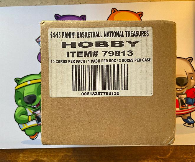 2014-15 Panini National Treasures Hobby Basketball 3-Box Case (Embiid RC RPA Yr)